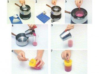 Как в домашних условиях растопить свечу в