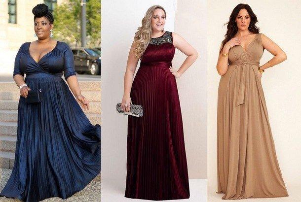 Модні вечірні сукні для повних. Мода для повних в 2019 році  сезони «осінь  зима» 53e983476c21b