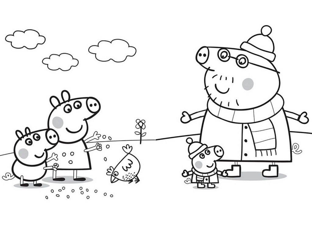 ... Розмальовка на Новий 2019 рік свині  12bf61838d7ca