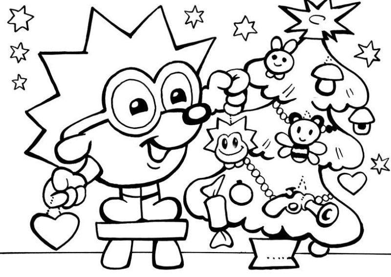 Розмальовка на Новий рік 2019  дошкільнятам 2ffb4f17f8e09